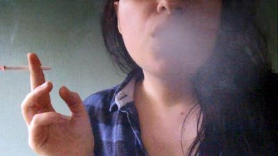 Kinky Girls Smokes in Your Face
